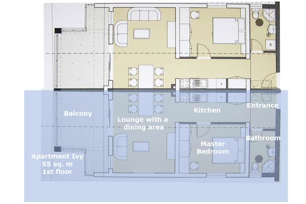 Appartement Ivy Layout