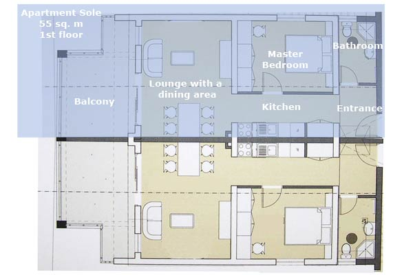 Appartement Sole Plan