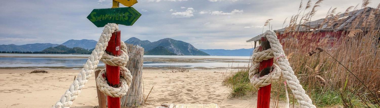 La plage de sable Usce, Croatie