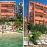 Villa Dorida, la spiaggia, lettini